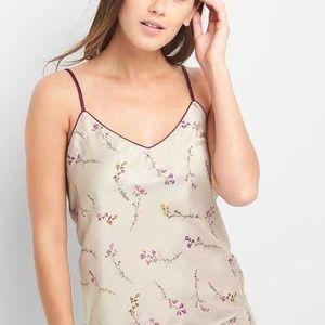 GAP Dreamwell Purple Floral Satin Pajamas - XS